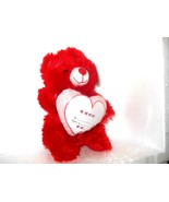 GIFT CARD HOLDER plush Teddy Bear  RED  With pocket Heart  - $12.73