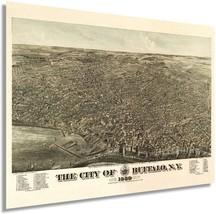 1880 Buffalo New York Poster Map - Vintage Map of Buffalo NY Wall Art - Old Buff - $34.99+