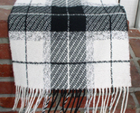 Cashmink black and white checked scarf on bonanza thumb155 crop