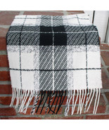 Cashmink Black and Creamy White Checked Scarf - $15.00