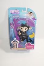WowWee Fingerlings Interactive Baby Monkey Finn Black w/ Blue Hair AUTHE... - $21.77