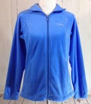 Columbia Light Blue Full Zip Up Fleece Long Sleeve Jacket Size Small - $18.49