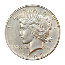 1923 D Peace Silver Dollar - Choice BU / MS / UNC - $59.00