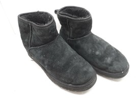 UGG Australia Women Classic  Mini Crystal Bow Winter Boot Black Size 7M - $42.74
