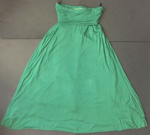 Honey Punch Green Maxi Skirt Small Medium Fold Over Elastic Waist Casual Comfort