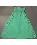 Honey Punch Green Maxi Skirt Small Medium Fold Over Elastic Waist Casual... - $19.79