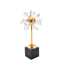 Splendid Clear Crystal Flower Decor, Multicolor - $183.74