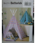 Sewing Pattern 4251 Children's Play Tent Tepee UNCUT - $7.99