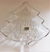 Studio Nova Christmas Day Glass Tree Platter Fireplace Stockings WY287/501  - $36.63