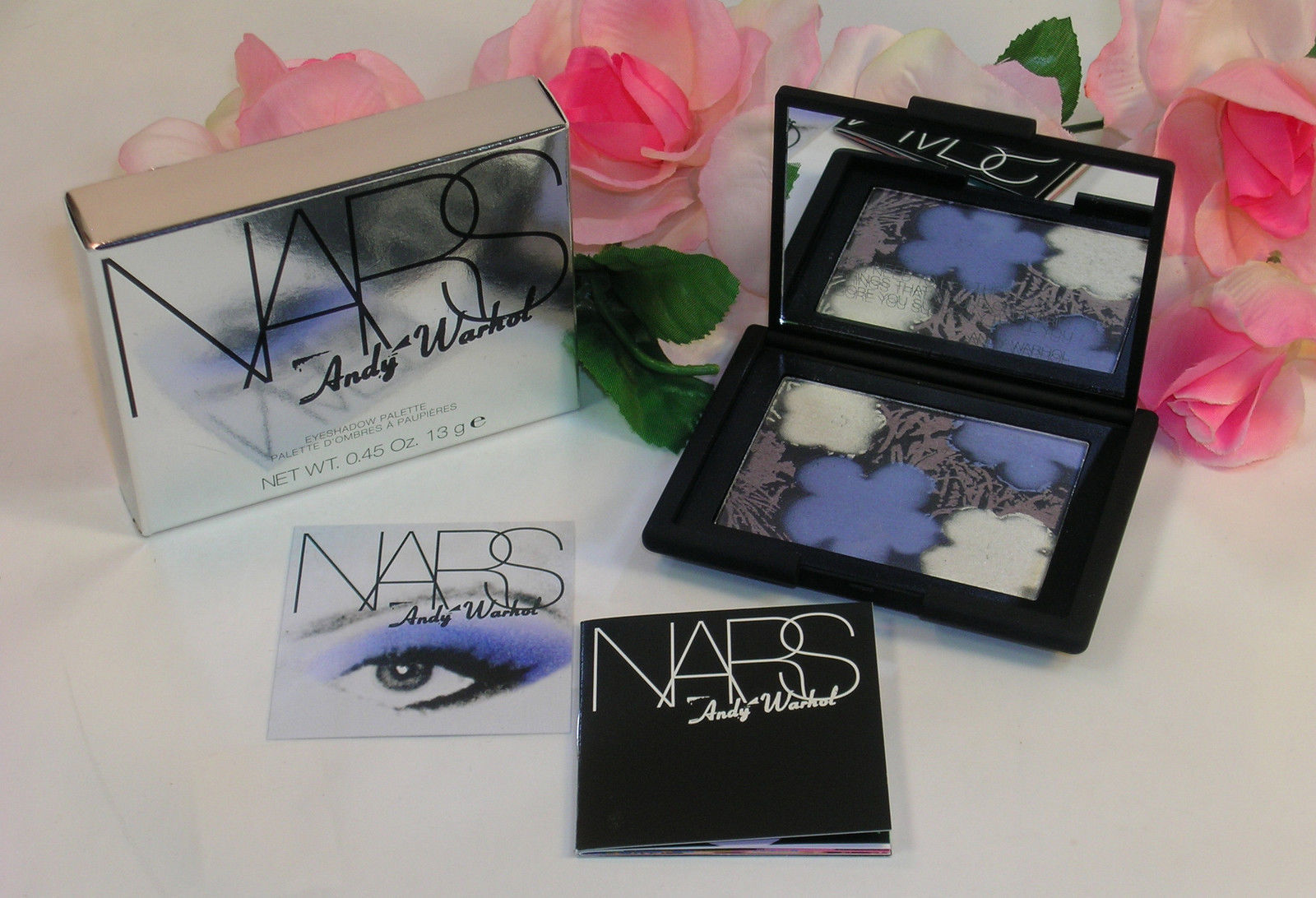 Primary image for New NARS Andy Warhol Eye Shadow Palette Compact Flowers #2 .45 oz 13 g Full Size