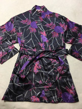 Victoria's Secret OS One Size Purple Pink Floral Satin Robe Soft Silky - ₨1,443.11 INR