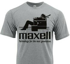 Maxell Dri Fit T-shirt moisture wick retro 70s blown away SPF graphic Sun Shirt image 1