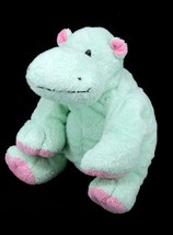 "Ty Baby Pluffies Minty Green Pink Hippo Tubby Beanie Plush Lovey 9"" - $19.95"