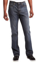 Kenneth Cole Reaction Men's Jeans Denim Blue Straight Leg Tinted 30W x 32W  - $32.31