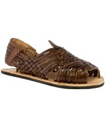 Mens Light Brown Sandals Mexican Huarache Real Leather Handmade Woven Op... - €16,86 EUR