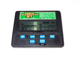 Radica Pocket Blackjack 21 #1350 Electronic Handheld Game Travel Dealer blue but - $6.64