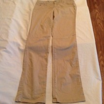 Justice pants Girls Size 16 Regular khaki uniform flat front pants - $15.99