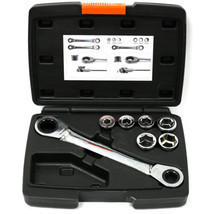 12 in 1 Interchangeable Ratchet Wrench Kit 14x19mm Metric 6 - 19 MM - $23.26