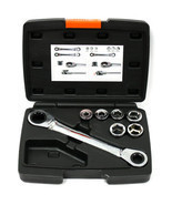 12 in 1 Interchangeable Ratchet Wrench Kit 14x19mm Metric 6 - 19 MM - £17.07 GBP