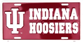 University of Indiana Hoosiers Embossed Metal License Plate Auto Tag Sign - $6.95