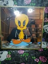 Vtg Warner Bros. Tweety Bird Mirror Glass Picture 1981 - $29.69
