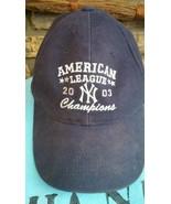New York Yankees 2003 AL Champions MLB Black Baseball Cap - $9.49