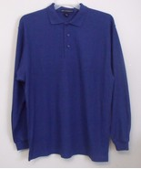 Mens Port Authority NWOT Blue Long Sleeve Polo Shirt Size Large - $16.95