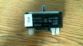 #704 3148951 KS811201 WHIRLPOOL RANGE INF SWITCH - FREE SHIPPING!! - $12.33