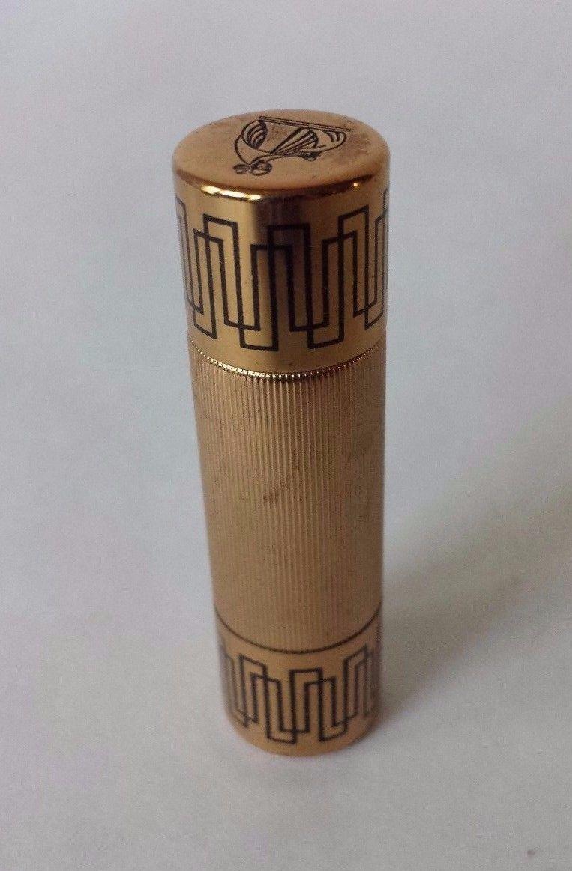 Vintage Lanvin My Sin Refillable Purse Perfume Bottle Cartier Almost Empty - $30.88