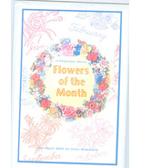 Embroidery Motifs Flower of the Month Patterns  Never Used - $3.99