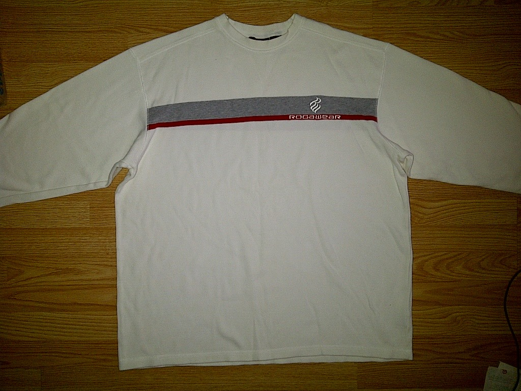 Primary image for Rocawear Hip Hop Urban Off White Bone Ivory Gray Grey Red Sweater XXXL 3xl 3x