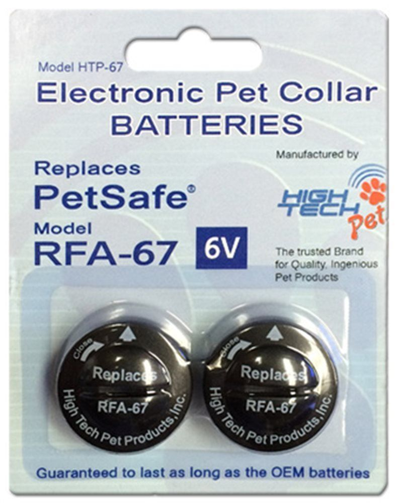 "3/4 "" 3 Hole Dog  Replacement Strap + 2 High Tech RFA 67D BATTERIES"