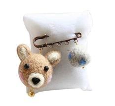 Cute Cartoon Animal Wool Felt Brooch Pin Clothing Accessories, Bear