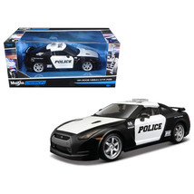 2009 Nissan GT-R (R35) Police Car Black and White 1/24 Diecast Model Car... - $49.87