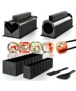 DIY Sushi Maker Plastic 10Pcs/set Mold Rice Mould Kits Kitchen Bento Too... - €29,92 EUR