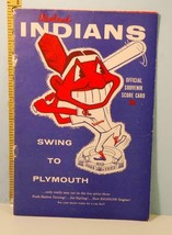1956 Cleveland Indians Baseball Score Card v Yankees Colavito Rookie HR #9 - $39.55