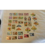 Lot of 32 Mongolia Stamps, 1972-1973, 1978-1979 Camels, Art Soccer, Dogs... - $22.28