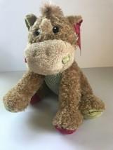 "Dan Dee Brown Corduroy Feet Red Green Polka Dot Stuffed Animal 12"" NEW - $28.97"