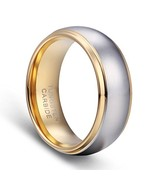 TUSEN JEWELRY Men's Wedding Bands 18K Gold Plated Tungsten Promise Rings... - $20.21