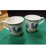 """Outstanding NIKKO China """"Rooster""""  ...Set of 2 COFFEE CUPS - $8.72"""