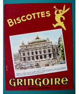 INK BLOTTER French AD: 1955 Biscottes Gringoire Wafer Biscuits Paris Ope... - $4.05