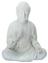 """Amida Buddha Meditating Teaching Mudra Statue White Resin 5.25"""" H - $30.69"""