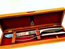 Gerber Legendary Blades Carving Set Solid Walnut Case Knife Fork 14 in Long - $1.411,64 MXN