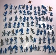 MARX? Multiple Products Co? REVOLUTIONARY HUGE lot of 80 Blue vintage so... - $112.19