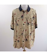 Round and Yorke Sailboat Themed Polo Shirt Mens Sz 4XL - $28.93