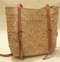 Back pack Palm leafs Basket