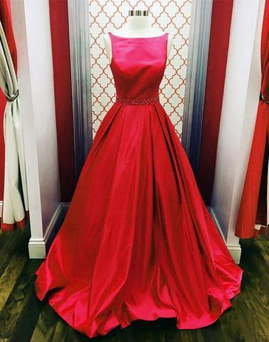 Red long prom dresses, red evening dresses,PD2051
