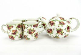 ROYAL ALBERT Old Country Roses Afternoon Tea Collection, China Teapot & ... - $97.95