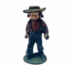 Cast Iron figure vtg toy Amish Mennonite church Jakob Ammann gift ww2 wwii boy 2 - $19.19