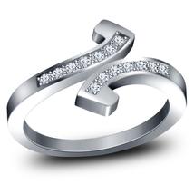 14k White Gold Finish 925 Sterling Silver Sim Diamond Womens Engagement ... - $72.99